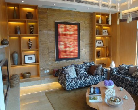 2019新中式150平米效果图 2019新中式三居室装修设计图片