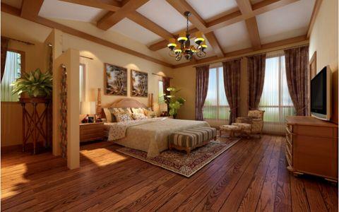 淡雅卧室美式地板装修效果图