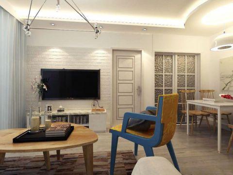 万达公馆-北欧风格-二居室装修效果图