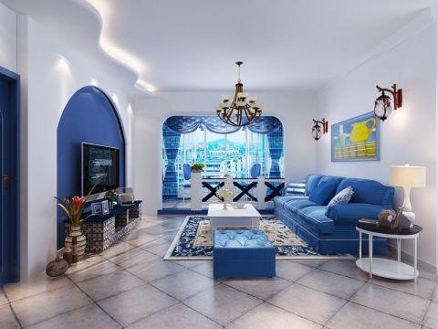 金牛公馆-地中海风格-三居室装修效果图
