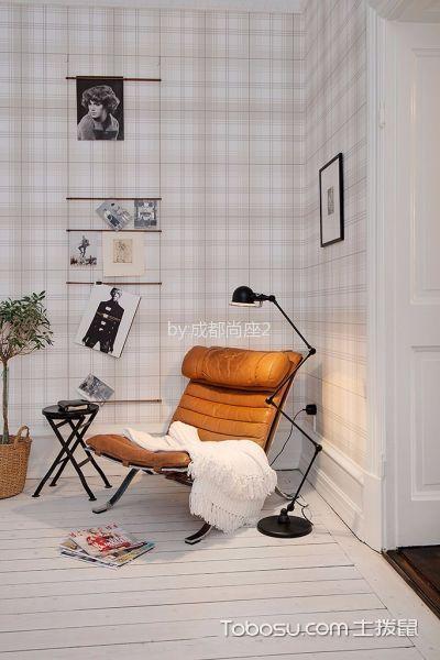 书房白色地板砖北欧风格装饰图片
