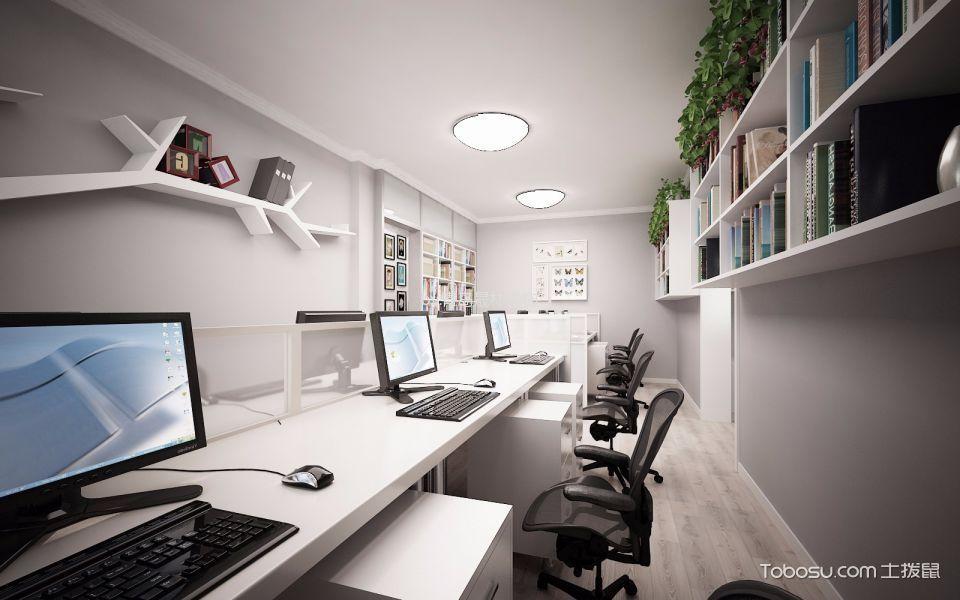 出版社空间设计办公桌装修实景图