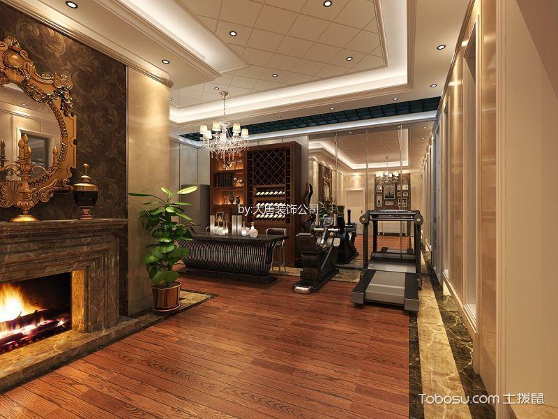 餐厅咖啡色走廊欧式风格装饰图片