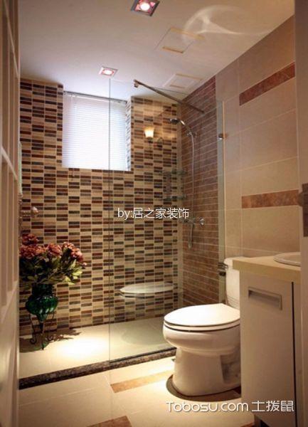 卫生间白色吊顶美式风格装饰图片