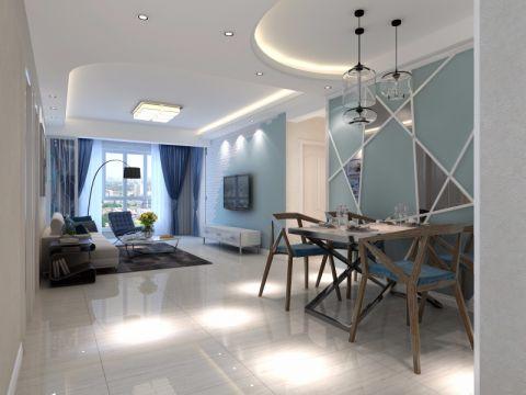金地艺境北欧风格三居室效果图