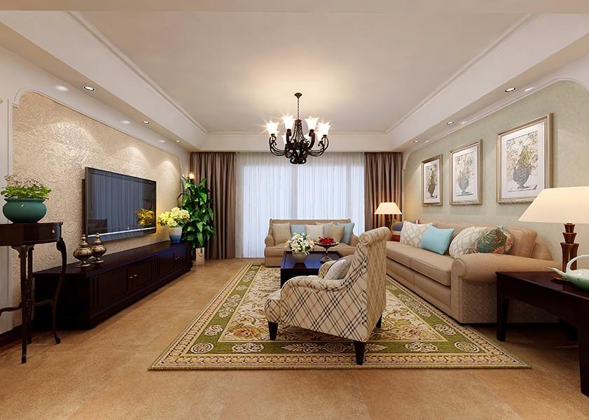 4室2卫2厅132平米美式风格