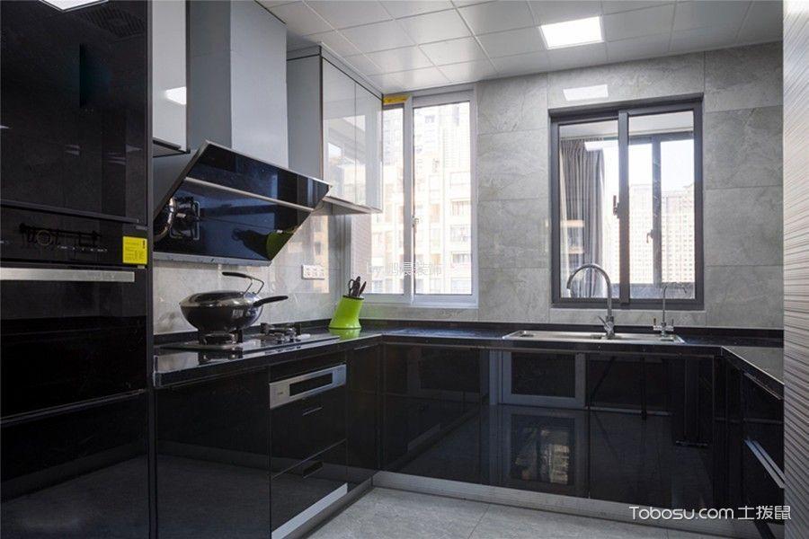 厨房黑色隔断北欧风格装修效果图