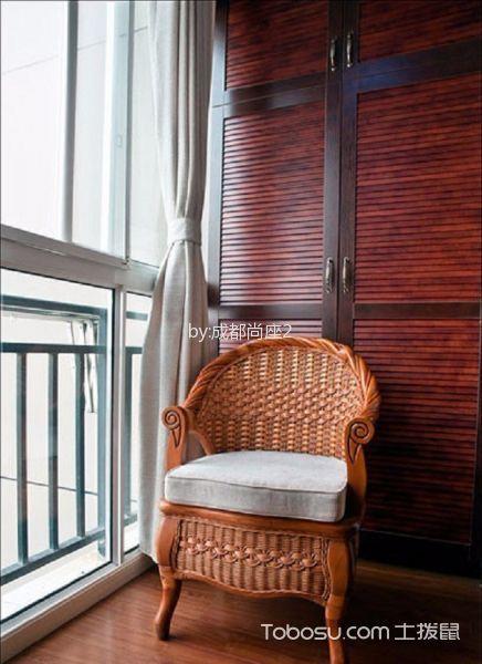 阳台白色窗帘美式风格装饰设计图片