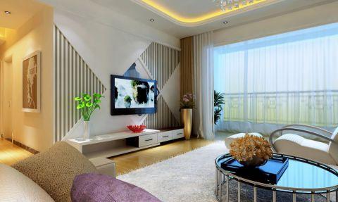 华亭国际现代简约100平米2居室设计效果图