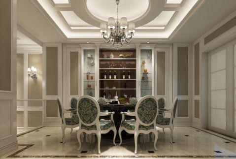 杨浦银亿领墅别墅装修美式风格设计效果图