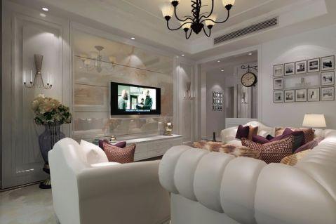2019欧式90平米效果图 2019欧式二居室装修设计