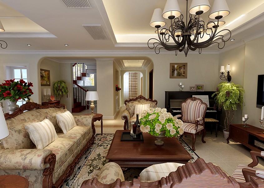 2室3卫1厅120平米美式风格