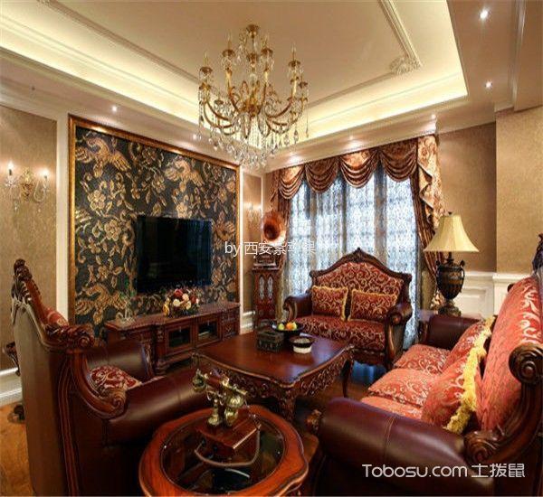温暖客厅茶几效果图图片