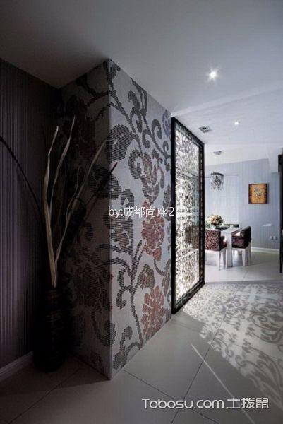 玄关白色地砖现代简约风格装潢设计图片