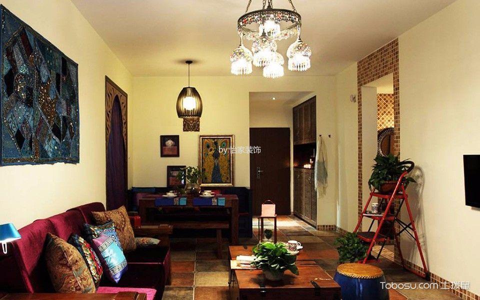 靓东花园78平米东南亚时尚风格装修效果图