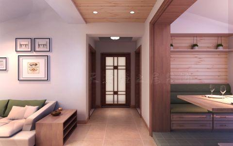 深蓝公寓两居室简约风格装修案例图