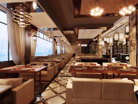 横沥湘之源餐馆工装装修效果图