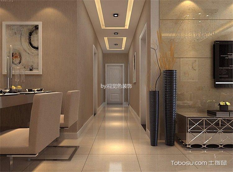 客厅白色地砖简欧风格装饰效果图