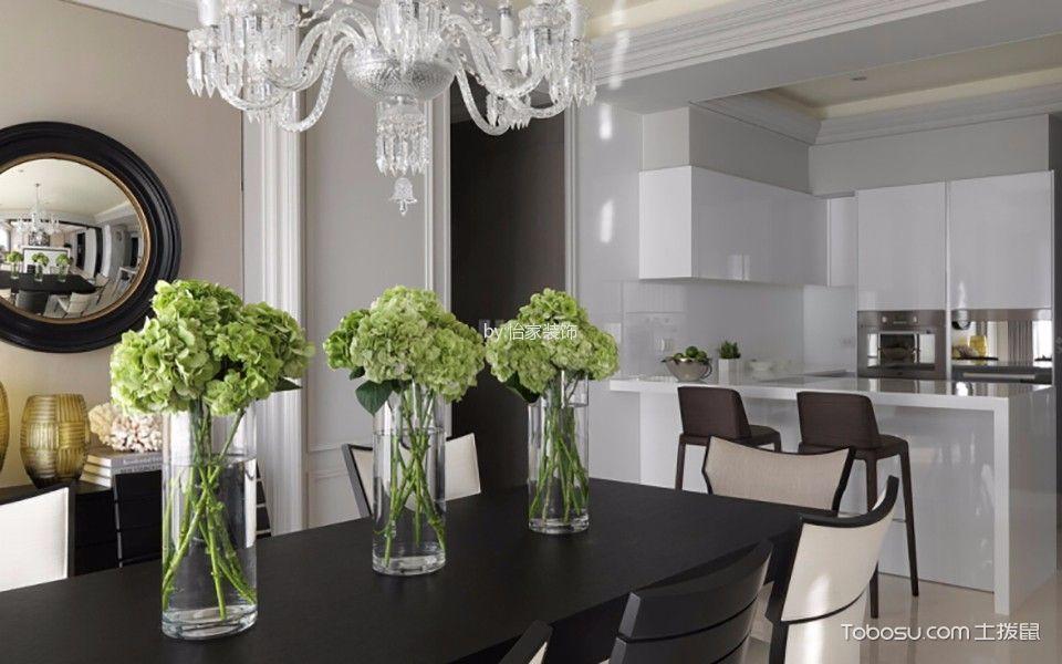 中信公园城180平现代公寓黑白灰色调设计
