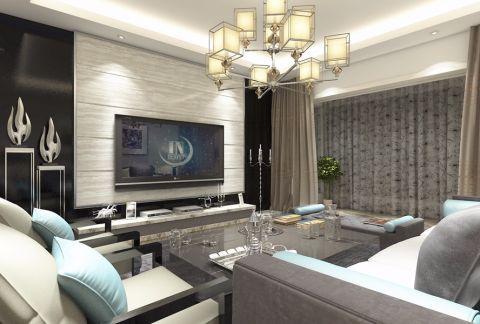 月城熙庭87平两室现代装修效果图