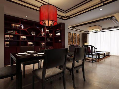餐厅博古架新中式风格装饰图片