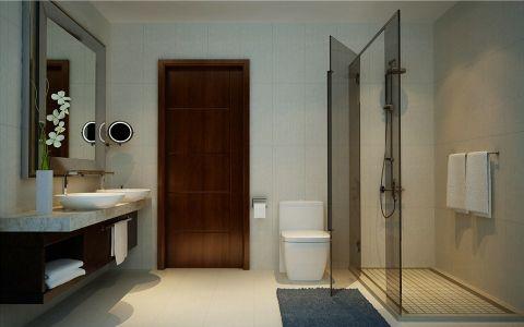 卫生间背景墙新中式风格装修图片