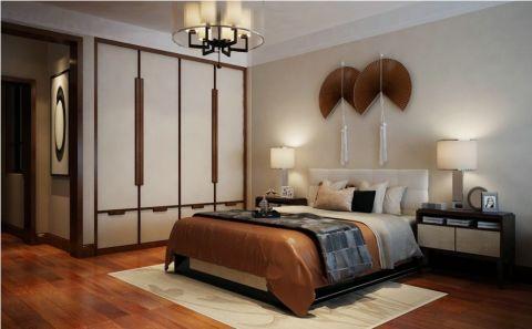 卧室背景墙新中式风格装潢图片