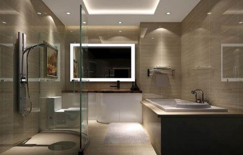 卫生间背景墙简约风格装潢效果图