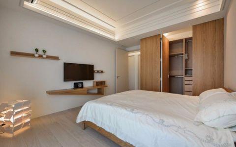 卧室背景墙日式风格装饰效果图