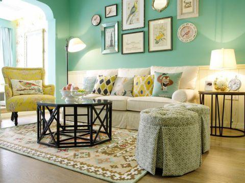 玫瑰公馆三居室美式风格