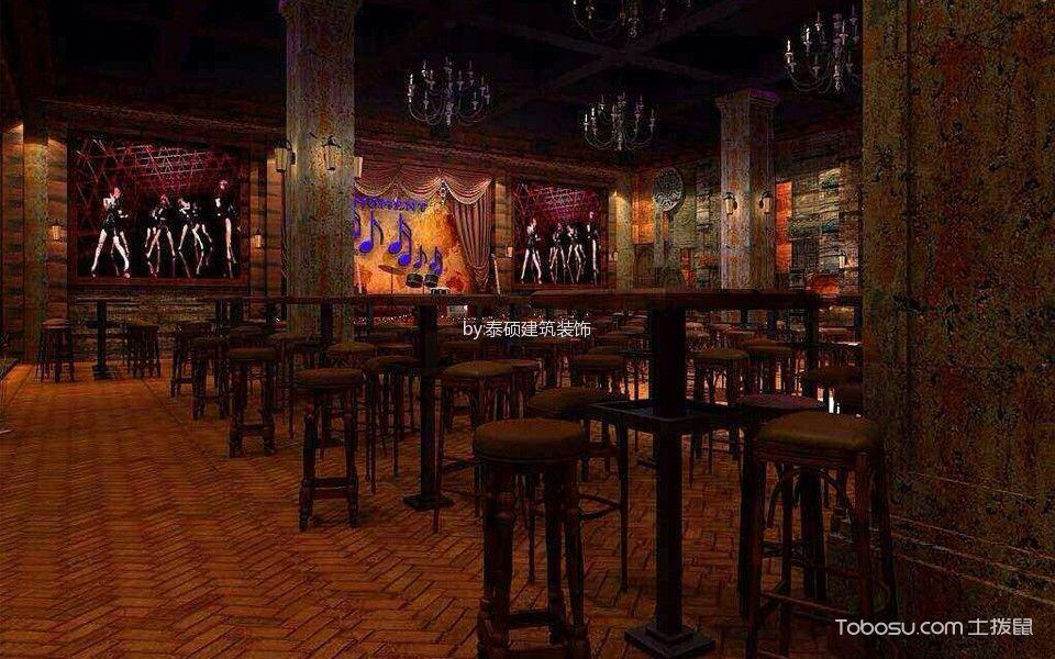 爵士酒吧地板装饰实景图