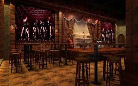 爵士酒吧工装装修效果图