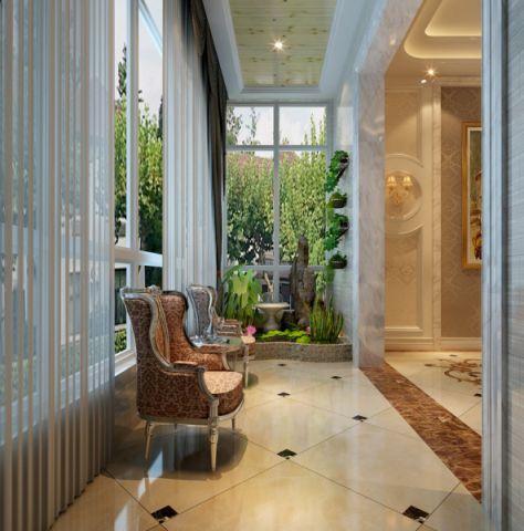 阳台窗帘欧式风格装饰图片
