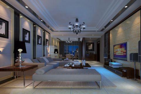 客厅背景墙后现代风格装潢效果图