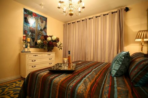 卧室窗帘地中海风格装修图片