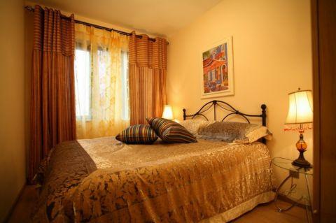 卧室背景墙地中海风格装饰图片