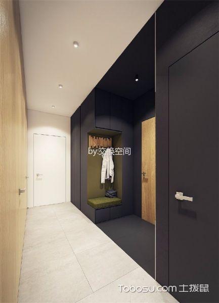 玄关白色走廊北欧风格装饰设计图片