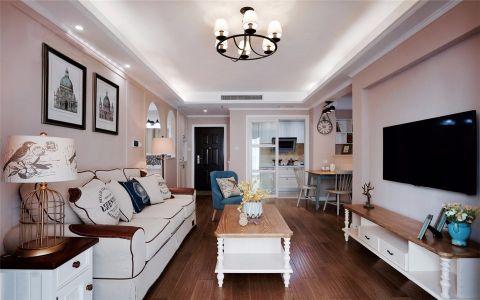 华地翡翠蓝湾两室两厅现代简约风格效果图