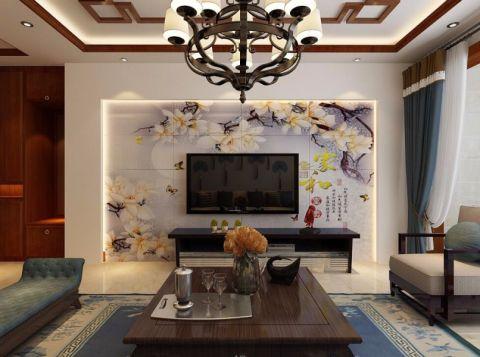 兰亭御湖城125平米新中式风格装修设计效果图
