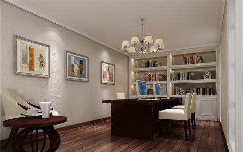 书房吊顶简欧风格装潢设计图片