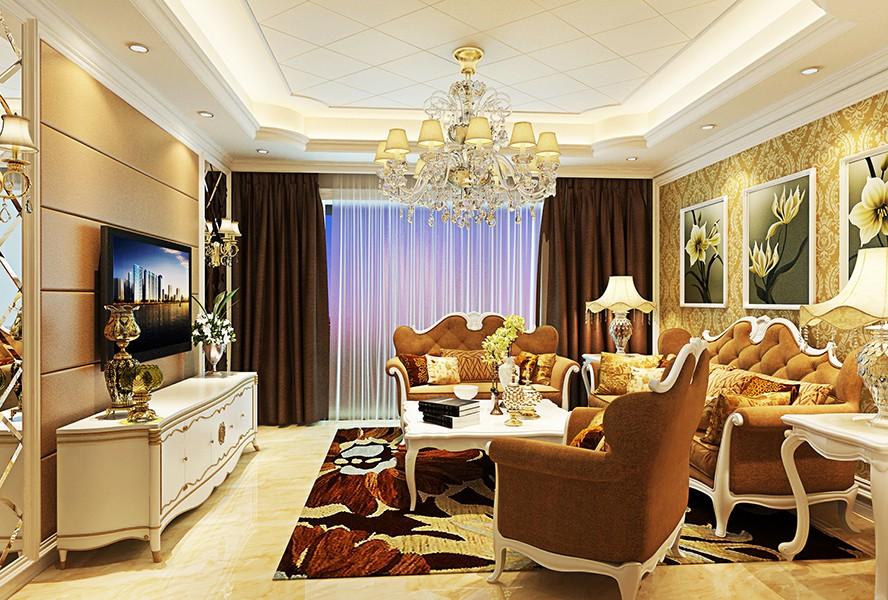 3室1卫1厅现代欧式风格