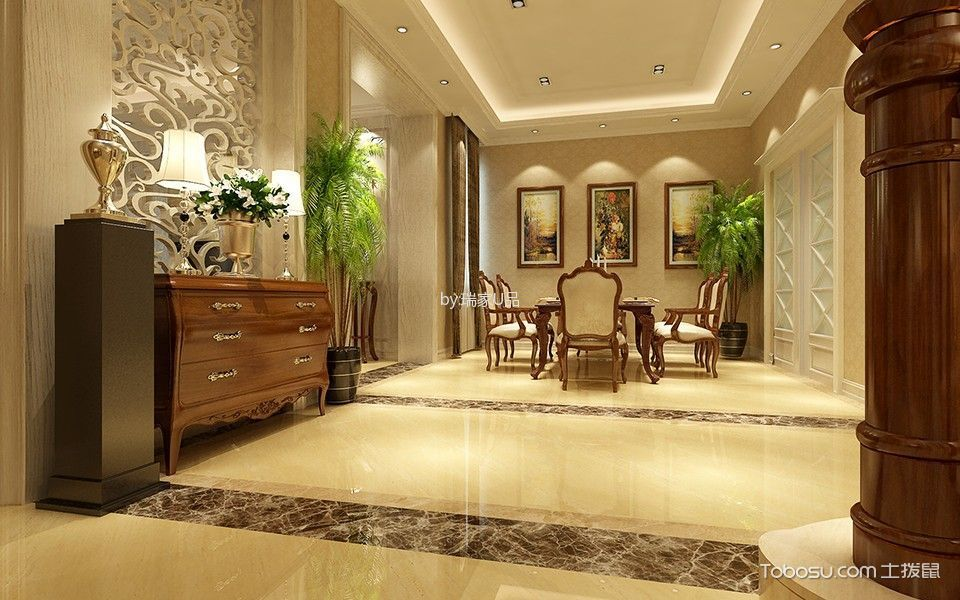 中铁逸都欧式别墅尽显优雅气质的金粉宫殿