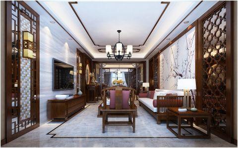 太原龙湖丽景150平中式风格设计图