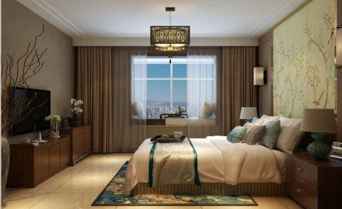 清新素丽卧室窗帘设计方案