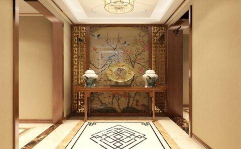 玄关吊顶新中式室内装饰