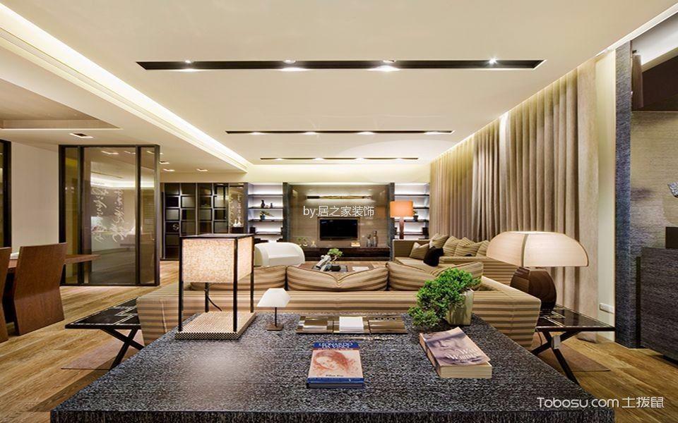 客厅黑色书桌现代简约风格装潢效果图