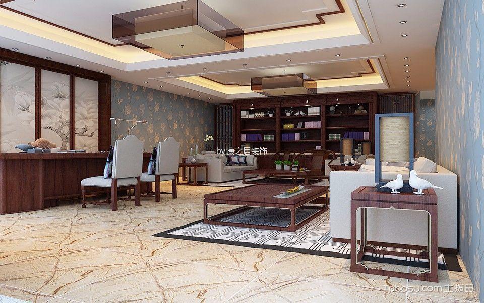 河东万达广场万达总裁办公室博古架装修效果图