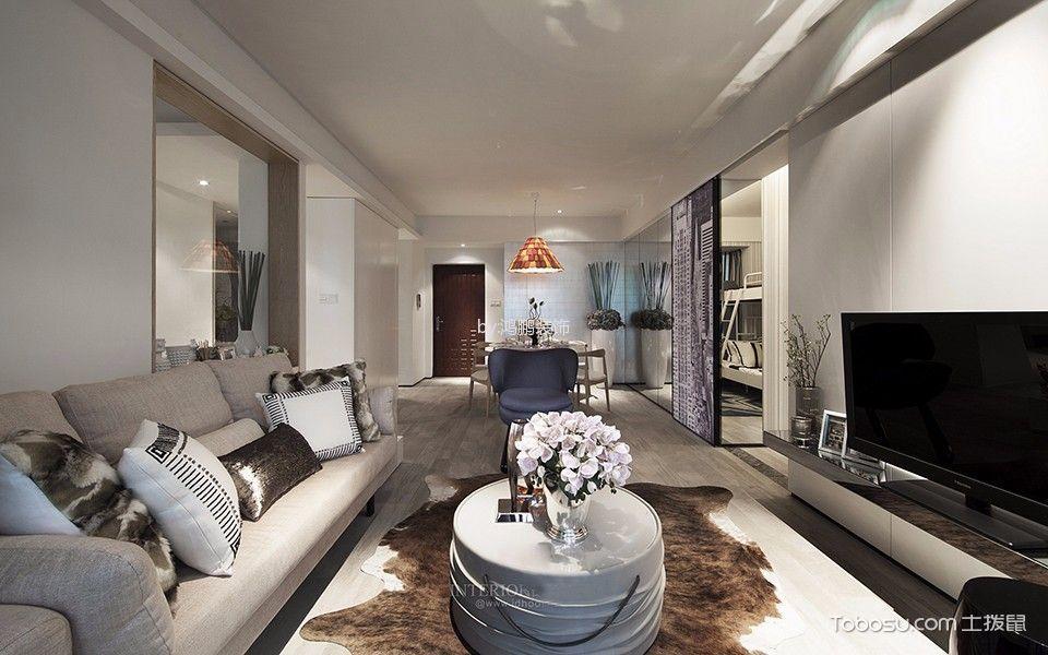 钻石湾两居室北欧风格装修效果图