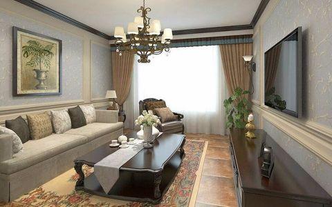 2020美式80平米设计图片 2020美式二居室装修设计
