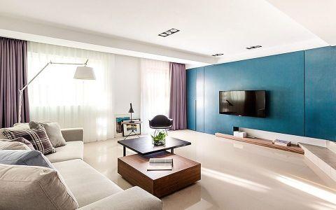 2018现代客厅装修设计 2018现代电视背景墙图片